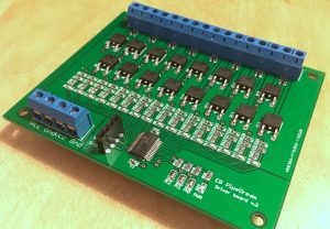 16-channel MOSFET drivers for electromagnet organ valves